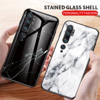 Marble Glass Case Xiaomi Mi Note 10 Note10 Pro MiNote10Pro Casing HP