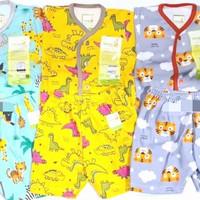 Pakaian Setelan Baju Bayi Velvet Junior Pendek New Born zootopia