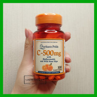 Puritans Pride Vitamin C 500mg 100 tablet 500 mg Bioflavonoid bkn gnc