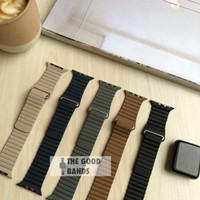 Apple Watch Tali Strap Leather Loop Kulit Band 1 2 3 4 38mm 40mm
