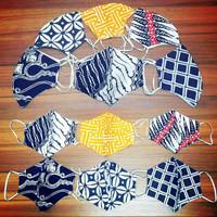 Masker Kain Katun motif batik 2 lapis Bisa Di Isi Tisu
