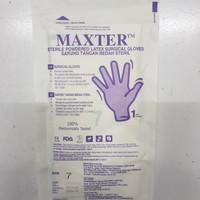 sarung tangan bedah steril maxter