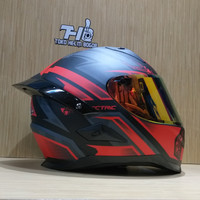helm Snail FFS1 Electric Matt Red Grey