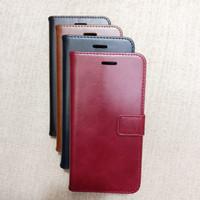 Leather Case Sarung Buka Tutup Flip Wallet OPPO F1S