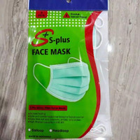 Masker bedah 3ply earloop dan hijab isi 5