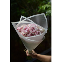 Bouquet Mawar Premium Soft Pink 20 Tangkai, Kado Buket / Gifts