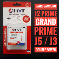 Batre samsung j2 prime j3 j5 grand prime double power