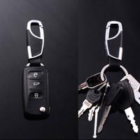 Gantungan Kunci Metal-Kulit Premium Mobil dan Motor - Genuine Leather - Silver