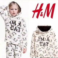 Hoodie Jacket Sweater HnM Kids Original Cat