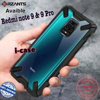 RZANTS Ringke Clear Case Xiaomi Redmi Note 9 / Redmi Note 9 Pro Ori - BLACK, REDMI NOTE 9