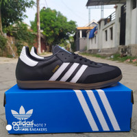sepatu Adidas samba og original Made in Indonesia - Black White