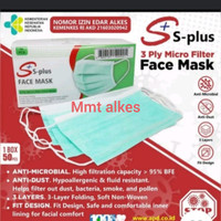 Masker medis 3ply isi 50 earloop dan hijab
