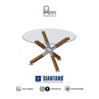 Meja Coffee Table Minimalis Siantano CT Lotus /Meja Tamu Kaca Siantano