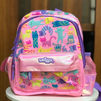 Smiggle Backpack Teeny Tiny Cat Kitten Pink Tas Ransel Anak Original