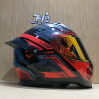 helm Snail FFS1 Electric Red Grey