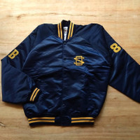 VARSITY JACKET QB CLUB X FIGHTIN ANGELS SIZE XL