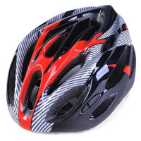 Helm Sepeda EPS Foam PVC Shell - x10 - Black - Merah
