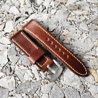 tali jam tangan kulit premium handmade leather strap 20mm 22mm 24mm