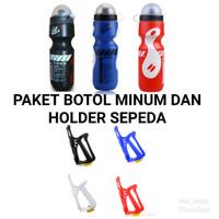 Paket Botol Minum Dan Holder Sepeda
