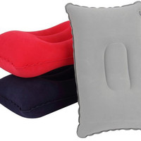 GIANTEX bantal angin lipat - portabel inflatable neck pillow