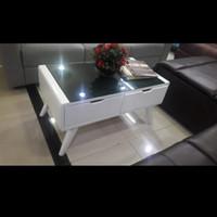 Meja ruang tamu|Meja retro minimalis|Coffee table - Putih