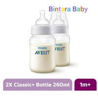 Philips Avent Twin Bottle 260ml Classic+ Botol Susu Avent Wide Neck