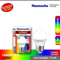 Lampu Led Bulb 3 Watt Putih Hannochs Sonic cool daylight Bergaransi