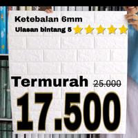 Wallpaper Dinding Bata Brick Foam Stiker Putih 3D Ukuran 70CM x 77CM