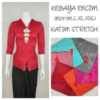 9528 Kebaya Encim Katun Stretch Lengan 7/8 Kebaya Bordir Supplier Keba