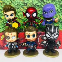 Action Figure Cosbaby Superhero Avengers Set of 6