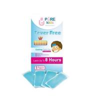 Pure Kids Fever Free 4 Lembar Cooling Patch Gel Penurun Demam Panas