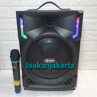 Speaker Aktif Portable GMC 8 Inch Bluetooth Super Sound Garansi Resmi