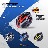 Helm Sepeda TaffSPORT MTB Dewasa EPS Foam PVC Shell Pria Wanita - x10