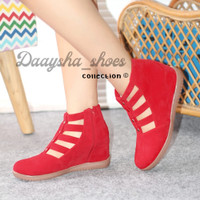 daysa-sepatu boots wedges bkr 21