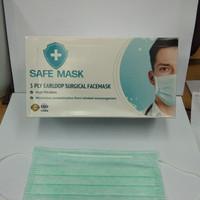 Masker Wajah SafeMask / Masker Wajah Karet Safe Mask isi 50