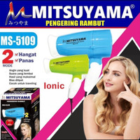 Hairdryer rambut hangat dan dingin kecil travelling mitsuyama ms 5109