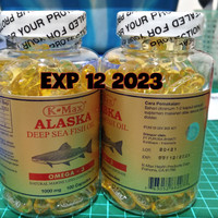 Minyak ikan kmax k-max alaska fish oil omega 3,6,9 1000mg tutup putih