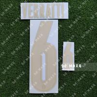 [ NAMESET ] ITALY ITALIA HOME & THIRD RENAISSANCE 2020 2021 VERRATTI 6