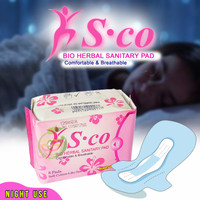 Sco Night Use - Pembalut Herbal S.co Merah - S co Pink - Bukan Avail