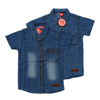 Baju Kemeja Denim Anak Laki Paddle Kids Soft Jeans Biru Usia 2-8 Tahun