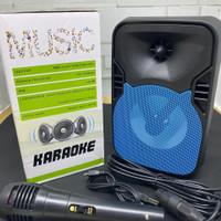Speaker Karaoke Fleco F-433 Free Mic - Speaker Bluetooth Radio F 433