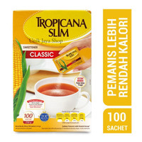 Tropicana Slim Sweetener Classic 100 Sachet - Gula Rendah Kalori