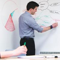 Whiteboard sticker wall sticker papan tulis untuk kantor belajar anak