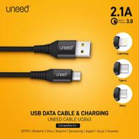 UNEED Nylon Braided Kabel Data Micro USB / iPhone Lightning / Type C