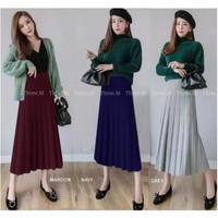 Rok Midi Knit Skirt Renda Import