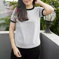 Kaos Polos Wanita Cotton Combed/Kaos wanita lengan pendek