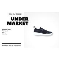 sepatu sneakers pria piero runaway black white