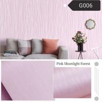 wallpaper stiker dinding motif bunga pink polos