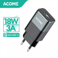 ACOME Charger QC3.0 AiC Fast Charging (AC01) Free Kabel Data Micro