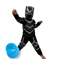Kostum anak Black panther size 4-14(umur 2-7th)